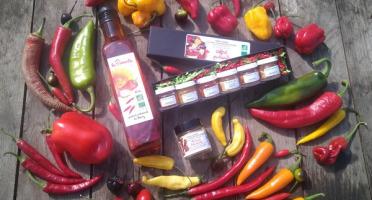HERBA HUMANA - Kit pimenté : Mélange de piment 550g, coffret piment, la pimentée et le piment hot lemon 12g