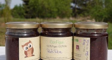 Le Ziboud'Terre - Producteur de figues - 1 Pack ConFigue de Figue Pastilière BIO 200 g - 3 pots