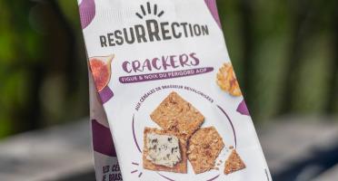 Crackers Résurrection - Crackers Figue & noix du Périgord AOP aux céréales de brasseur revalorisées