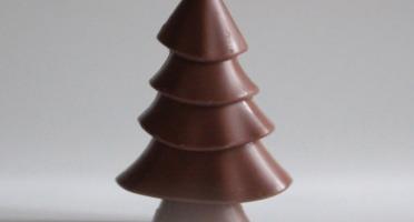 Mon jardin chocolaté - Sapin De Noël Chocolat Au Lait Sur Son Jardin De Mini-tablettes