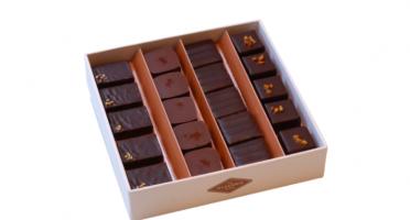 La Glacerie par David Wesmaël - Meilleur Ouvrier de France Glacier - Coffret de Chocolats Pralinés Noirs et Caramels