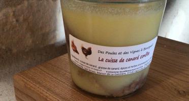 Des Poules et des Vignes à Bourgueil - Cuisse de canard confite
