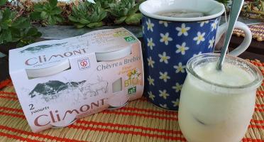 Laiterie du Climont - K-Philus - Yaourt Chèvre & Brebis, Fleur d'oranger, par 12 pots