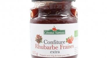 Les Côteaux Nantais - Confiture Rhubarbe Fraises Bio 325g
