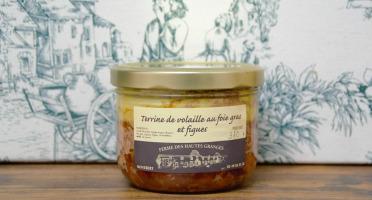 Ferme des Hautes Granges - Terrine de volaille foie gras et figues - 370 g