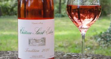 Château Saint Estève d'Uchaux - AOP Côtes du Rhône Rosé de Saignée 2020 Bio x 6