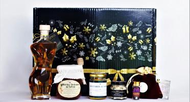 """Le safran - l'or rouge des Ardennes - Coffret Noir """"joyeuses Fêtes"""" L'epicée"""