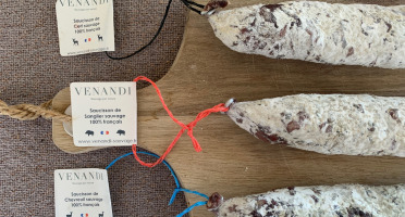 Venandi Sauvage par Nature - Lot de 3 Saucissons de Gibier 100% Français