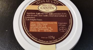La Fromagerie Marie-Anne Cantin - Oeufs Au Lait