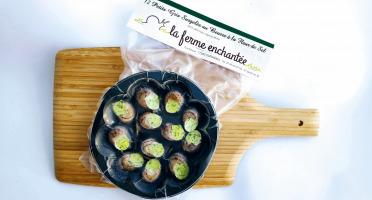 La Ferme Enchantée - [SURGELÉ] 12 Escargots Petits Gris au Beurre à la Fleur de Sel Surgelés