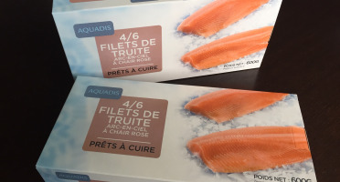 AQUADIS NATURELLEMENT - [surgelé] 3 À 4 Filets De Truite À Chair Rose Avec Peau 100/150gr
