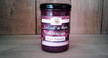 Le Domaine du Framboisier - Confiture allégée en sucre Framboise avec Pépins 250g