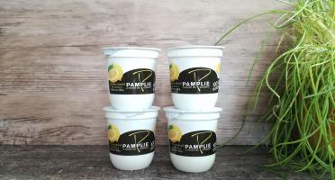 Laiterie de Pamplie - Lot De 4 Yaourts Brassés Arôme Naturel De Citron Au Lait Entier
