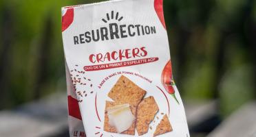 Crackers Résurrection - Crackers Duo De Lin & Piment d''Espelette AOP au marc de pomme revalorisé
