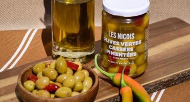 Les Niçois - Olives Vertes Cassées Pimentées De Tata Paulette 170g