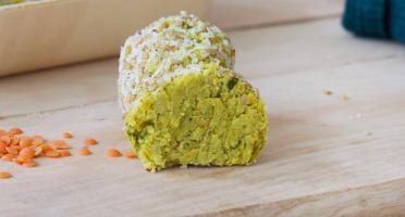 L'Atelier V* - Falafel de Lentille Corail, Coriandre, Curry, Sésame et Coco