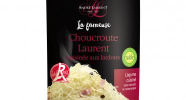 Choucroute André Laurent - La Fameuse Choucroute Laurent Cuisinée Aux Lardons - Lot De 12 Boites De 400g