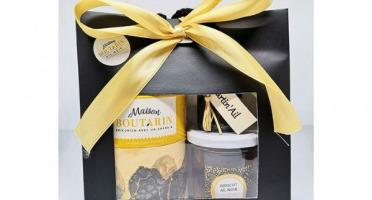 Maison Boutarin - Panier gourmand : tête d'ail noir, confiture abricot-ail noir, pâte à toaster choco-ail noir