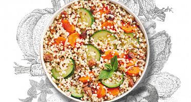 La Brouette - Pour 2 Pers. - Légumes Al Dente À La Menthe Fraîche, Boulghour Et Quinoa