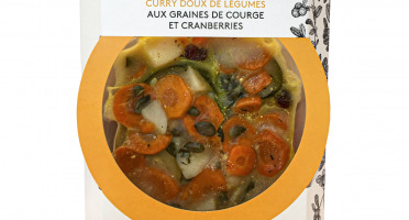 La Brouette - Pour 1 Pers. - Curry doux de légumes, graines de courge et cranberries - Convient aux végétariens