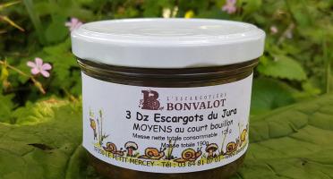 L'escargotière BONVALOT - 3 Douzaines d'Escargots du Jura Moyens au Court-Bouillon