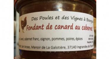 Des Poules et des Vignes à Bourgueil - Fondant De Canard Au Cabernet