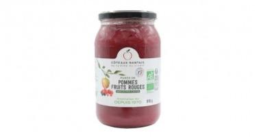 Les Côteaux Nantais - Purée Pommes Fruits Rouges 915g BIO