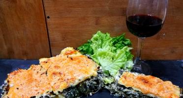 Ferme du caroire - Lasagnes Végétariennes Fromage De Chèvre Frais Épinard