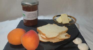 La Ferme du Montet - Confiture Extra d'abricots vanille BIO - 220 g