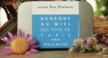 Sous les fraises - Epicerie des Toits de Paris - Bonbons Miels & Menthe