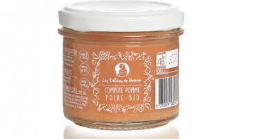 Les délices de Noémie - Lot de 6 compote Pomme - Poire Bio pour bébé dès 4 mois