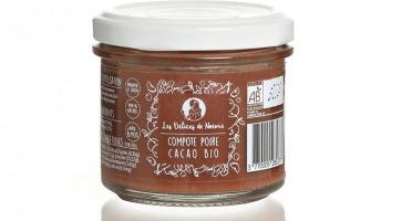 Les délices de Noémie - Lot de 6 Compotes Poire - Cacao Bio pour Bébé dès 6 mois
