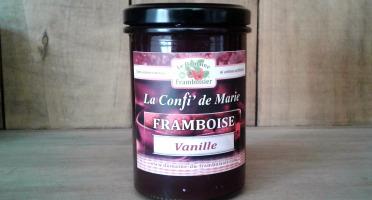 Le Domaine du Framboisier - Confiture allégée en sucre Framboise et Vanille 250g