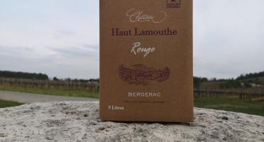 Château Haut-Lamouthe - Bib  Bergerac Rouge AOC - 5 Litres
