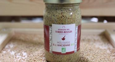 Domaine des Terres Rouges - Moutarde à l'ancienne au Vinaigre de Cidre BIO 200 g