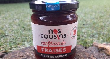 Nos cousins Conserverie - Confiture De Fraise - Infusion De Fleur De Sureau 240g