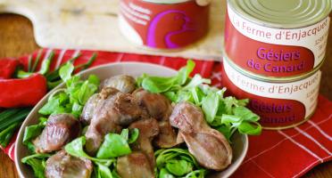 La ferme d'Enjacquet - Gésiers de canard confits 6 pièces