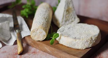 Ferme du caroire - Plateau apéro Fromages de Chèvre : Bûche Crémeuse + Pyramide Sèche + Pavé Crémeux