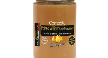 Conserves Guintrand - Compote De Poire Williams Yr 327 Ml Allegee En Sucres