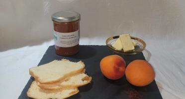 La Ferme du Montet - Confiture Extra d'abricots safran BIO - 220 g