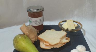 La Ferme du Montet - Confiture Extra de poires gingembre BIO - 220 g