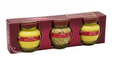 Domaine des Terres Rouges - Coffret Trio de moutardes - 165g