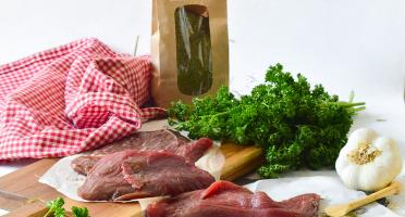 Michel et Alain Fermiers BIO - [SURGELÉ] Steaks de Bœuf *** BIO – 4x100 g + Poudre de Foin 150 g