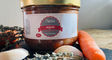 Hippolyte - Le Mijoté 350 g : recette de viande de cheval en sauce, façon bourguignon