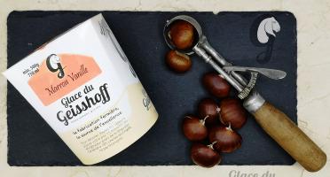 Glace du Geisshoff - Marron Vanille Crème Glacée Fermière Au Lait De Chèvre 750 Ml