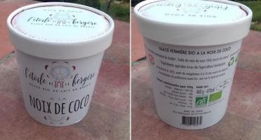 L'Etoile de la Bergère - Glace Bio Au Lait De Brebis Corse Noix De Coco 470 Ml