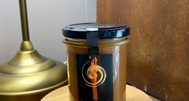 L'AMBR'1 Caramels et Gourmandises - Crème de Caramel Au beurre Salé Et Pommeau De Paimpol - Pot De 220g