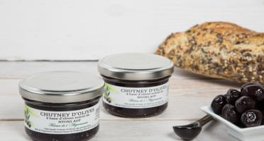 La Ferme de l'Ayguemarse - 2 Pots de Chutney d'olive Noire de Nyons AOP