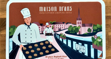 Biscuiterie Maison Drans - Boîte Fer Garnie De Sablés Au Beurre Aop 500g - Marron