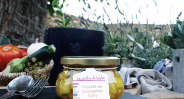 Les Jardins de Saphir - Pickles De Courgettes Au Curry 180g